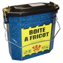 Boîte à fricot en acier émaillé petit modèle de couleur de couleur verte ou beu