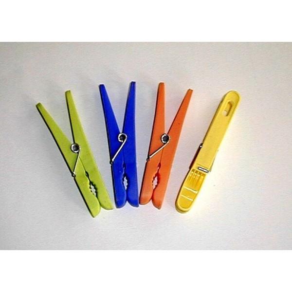 Pince linge laguelle ergonomique en plastique par 24 - Pince alimentaire en plastique ...