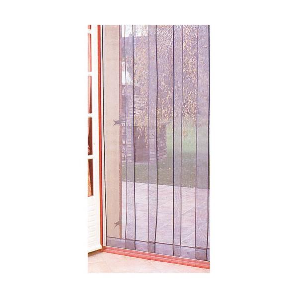 Rideau de porti re moustiquaire arles 4 bandes 100 220 cm - Rideau hauteur 220 ...