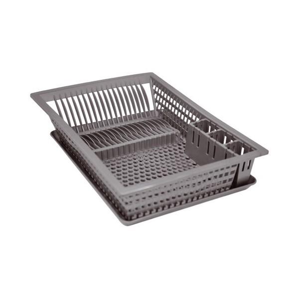 egouttoir vaisselle plastique 18 couverts aluminium et plastique avec plateau. Black Bedroom Furniture Sets. Home Design Ideas