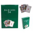 Jeu de 54  cartes plastifiées
