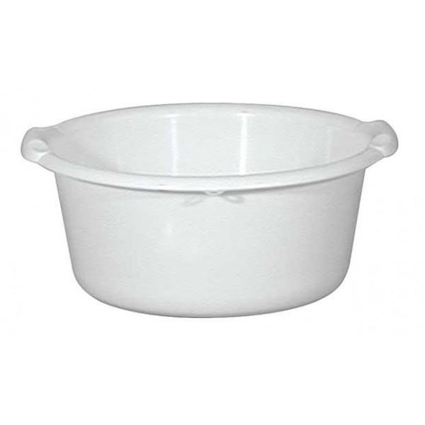bassine ronde aluminium et plastique 40 cm blanche. Black Bedroom Furniture Sets. Home Design Ideas