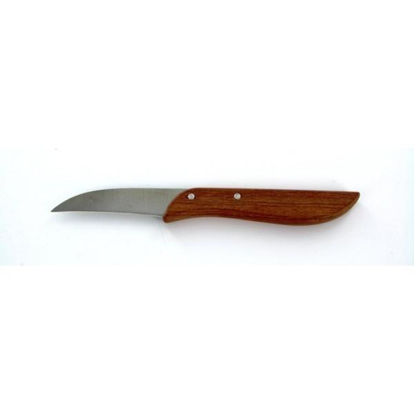 Couteau office pradel bec lame courbe manche bois bazari - Couteau de cuisine pradel ...