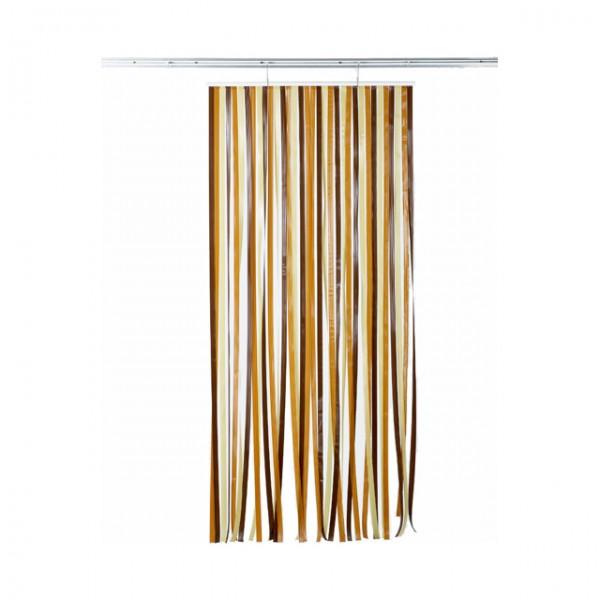 rideau de porte antille brun beige en pvc dimension 120 220. Black Bedroom Furniture Sets. Home Design Ideas