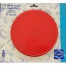 cache plaque rouge 20  cm acier émaillé