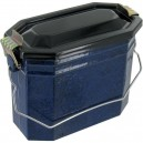 Boîte à fricot en acier émaillé petit modèle de couleur verte ou bleu