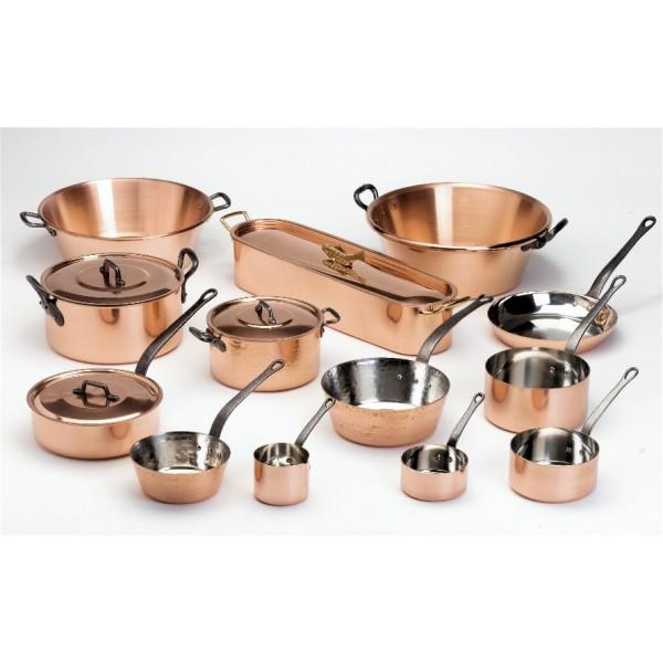 S rie de 5 casseroles en cuivre de marque baumalu - Cuisine installee prix ...