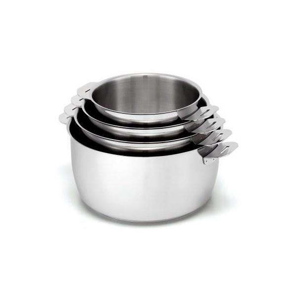 s rie de 4 casseroles beka select poign e amovible. Black Bedroom Furniture Sets. Home Design Ideas