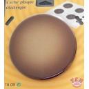 cache plaque caramel 16 cm acier émaillé