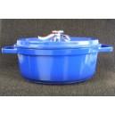 cocotte fonte d'alu ogo ovale 26 cm cm bleu