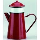Cafetière à filtre en métal émaillé rouge 1 L