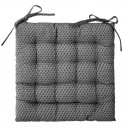 coussin de chaise gris 38*38 cm atmoshera