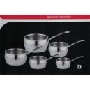 série de 5 casseroles inox tec cuisine
